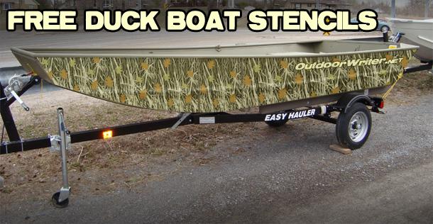 Duck Boat Camo Stencils