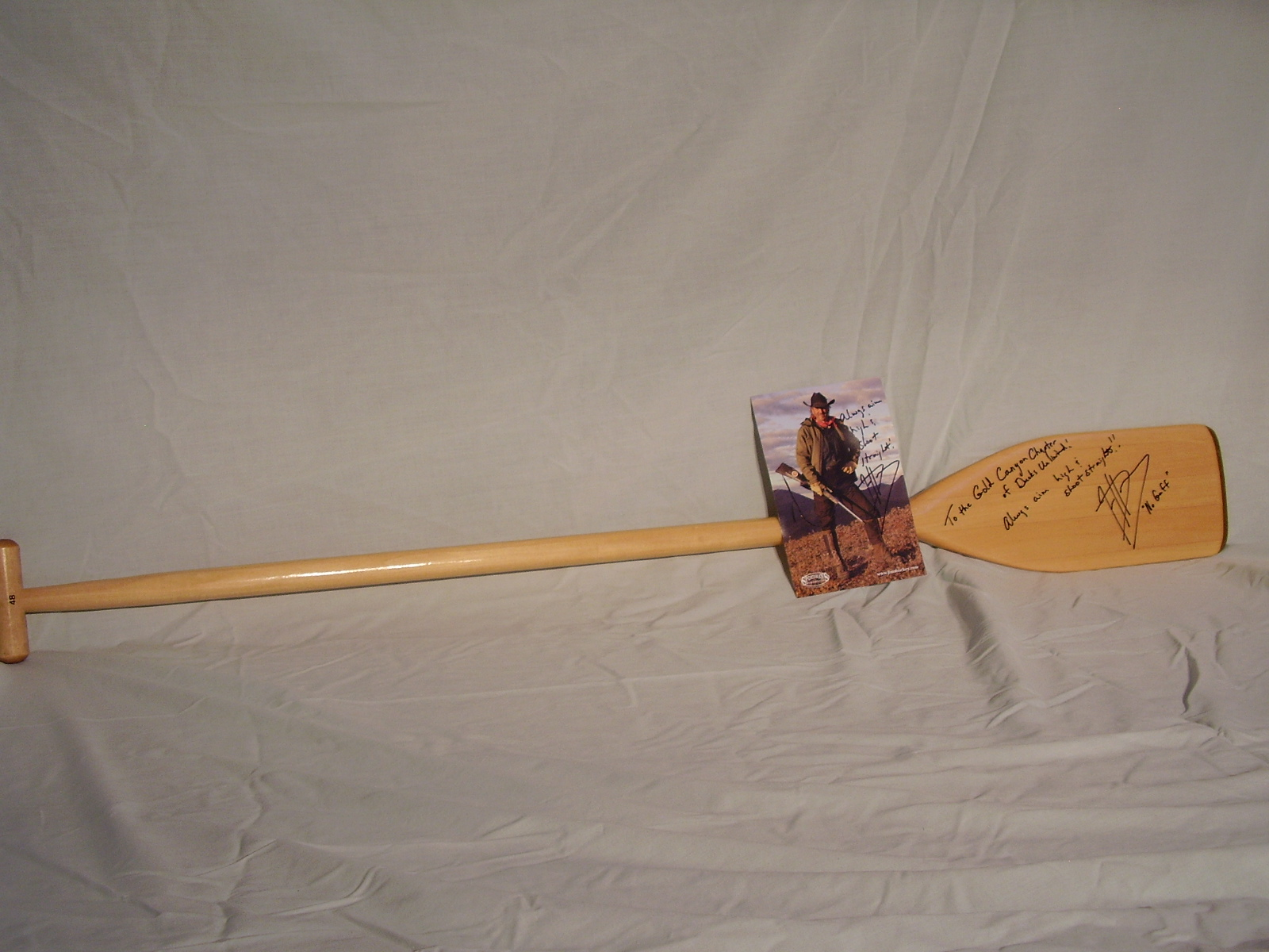 Jim Shockey signed picture and oar.JPG