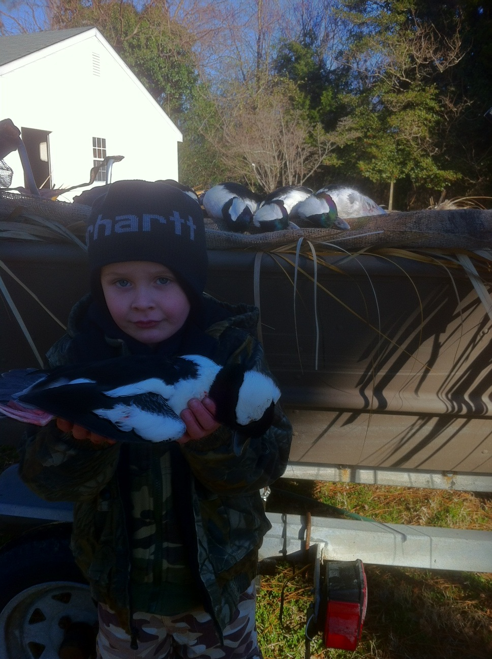 Waylans first duck.JPG